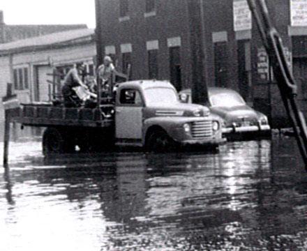 Timeline 1951 Flood